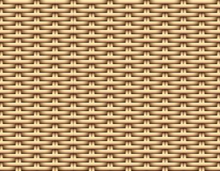 Seamless 3D Brown Rattan pattern, vector art design 向量圖像