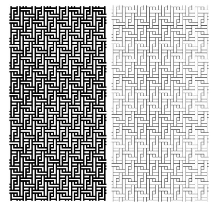 Seamless Chinese weave line pattern, vector art design