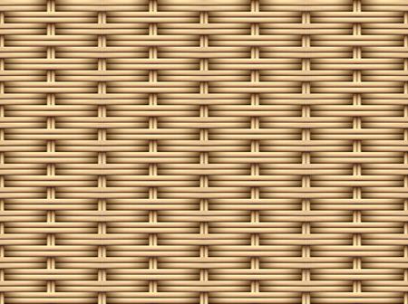 Motif de rotin marron 3D sans couture, conception d'art vectoriel