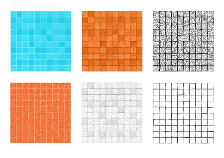 Seamless square stone pattern for floor and wall, vector art