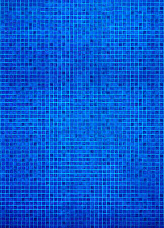 Top view, Swimming pool with dark blue tile surface
