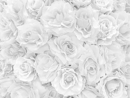 White mable with many Rose flower pattern background