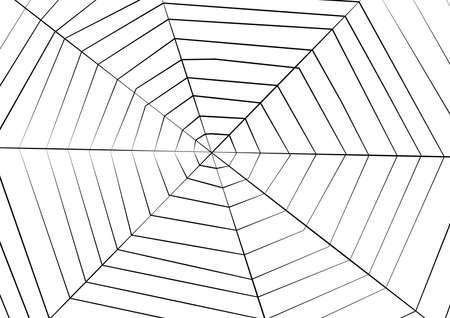 Big Spider web background for halloween, vector art