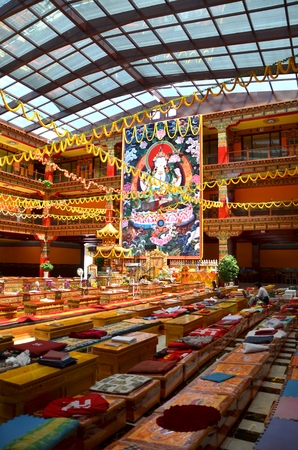 Interior view of a chinese temple Editorial