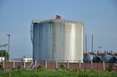 View of an industrial tank