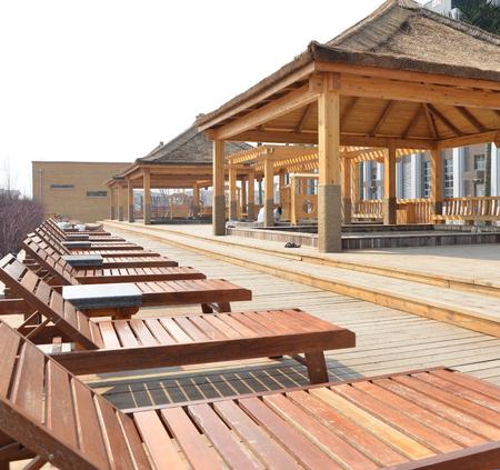 Outdoor spa Editorial