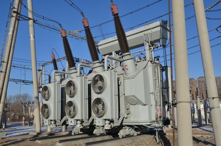 Power transformer Banco de Imagens
