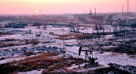 yacimiento petrolero: Opini�n del invierno de un campo petrolero