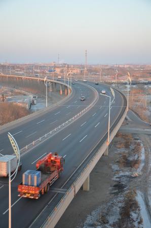 city road: City Road view Stock Photo