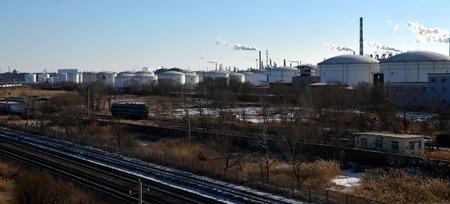 chemical plant: Oliemaatschappij chemische fabriek