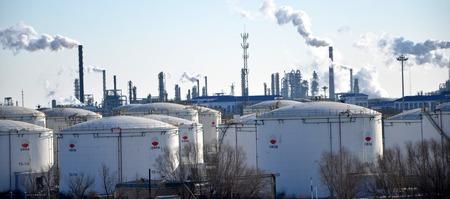 storage: Oil storage tanks