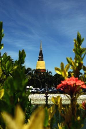 ayuthaya: Ancient Temple wat-yai-chai-mongkol of ayuthaya province thailand Stock Photo