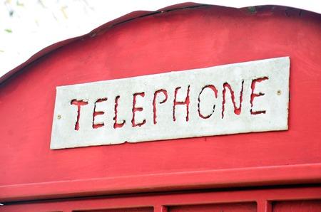 Label-Phone Booth Hintergrund Standard-Bild