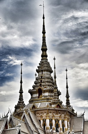 Detail of Temple Maha Wihan luang Pho Toe in thailand photo