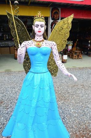 Steel Fairy in a blue dress