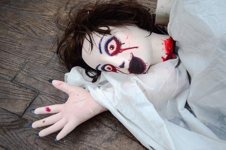 Halloween Doll woman creepy zombie 스톡 콘텐츠