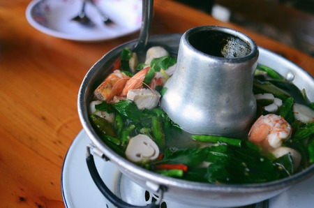 nam: Tom Yum Nam Koong Thai soup