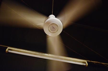 ceiling fan: electric ceiling fan Stock Photo