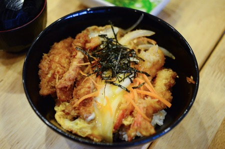 pork chops: fried pork chops dinner set Stock Photo