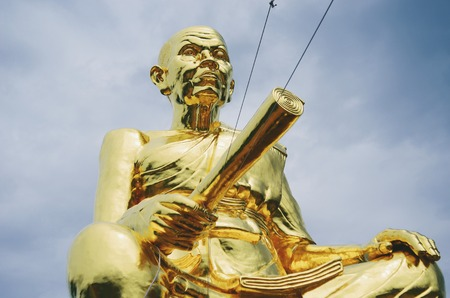 high priest: Statue of Luang Phor Koon Temple in Nakhon Ratchasima, Thailand