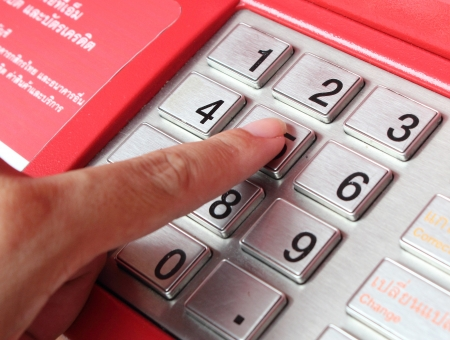 automatic teller: ATM Stock Photo