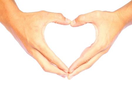 Heart-shaped hands  Stock Photo - 20984881