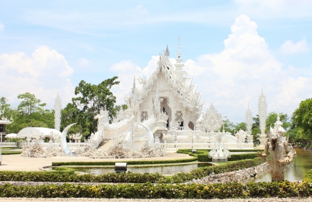 Wat Rong Khun,Chiangrai, Thailand Stock Photo