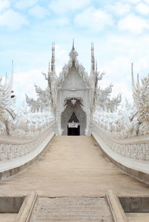 veneration: Wat Rong Khun,Chiangrai, Thailand Stock Photo