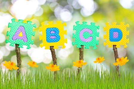 Rubber alphabet A,B,C,D Stock Photo - 25914749