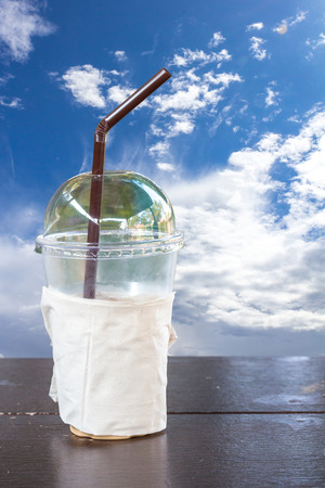 Iced Coffee in Plastic cup