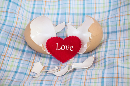 Eggshel and heart photo