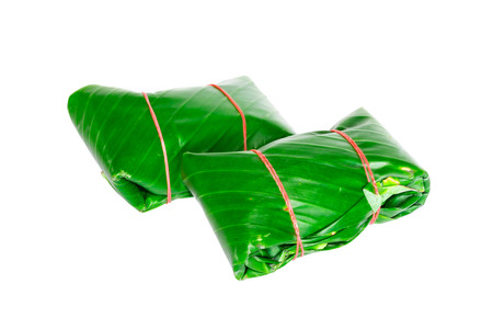 Package of banana leaves photo