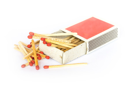Matches on a white background Stock Photo