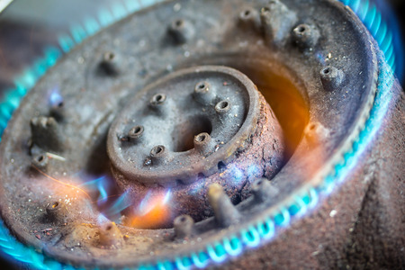 old gas stove: old gas stove  Stock Photo