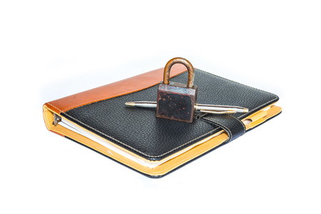 A padlock protects the secrets in a book  photo