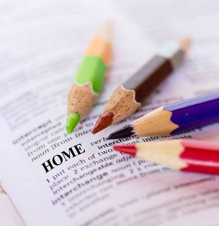 The word HOME Stock Photo