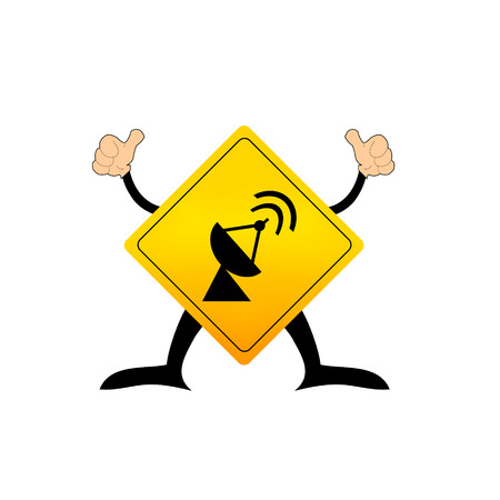 emitter: antenna transmission sign Illustration