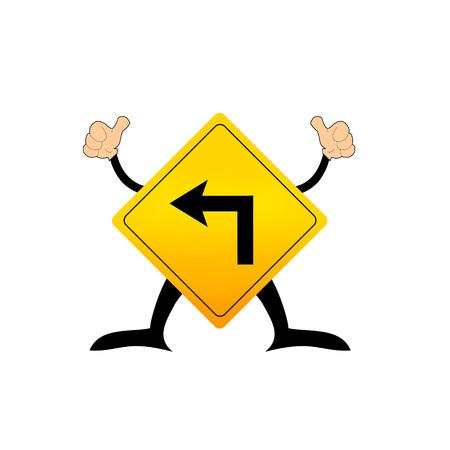 turn left: Accendere segno traffico a sinistra