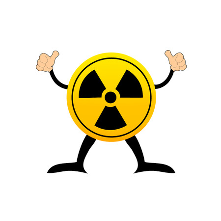 Radioactive round sign isolated on white Vector
