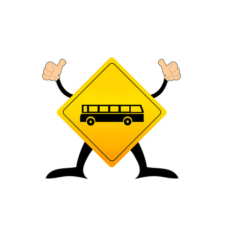 curvaceous: Road sign Illustration