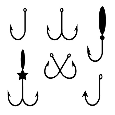 hook set icons Vector