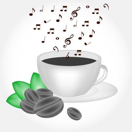 re: Coffee cup with musical smoke Illustration