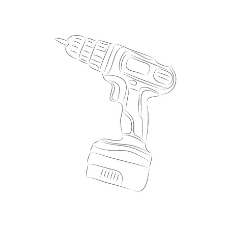 electric hole: Battery screwdriver drawing