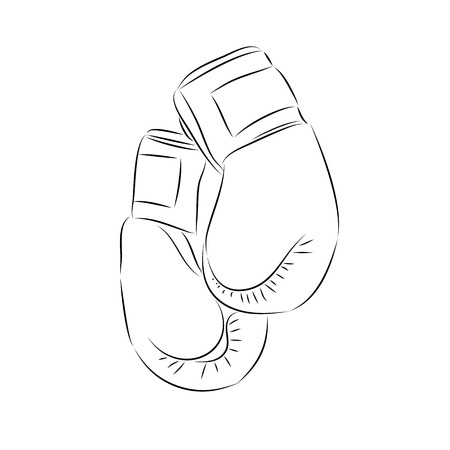 bout: Doodle style boxing illustration in vector format.