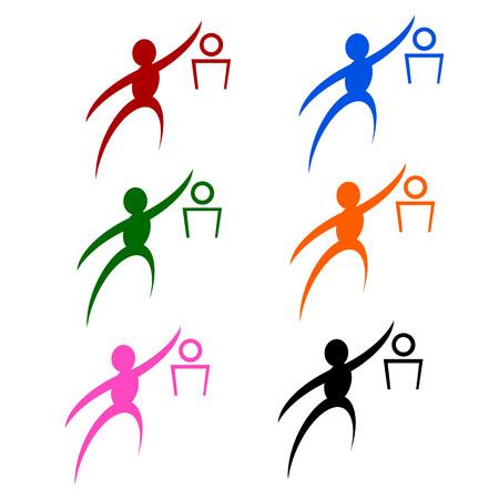 dunking: basketball sign or symbol; isolated on white background.