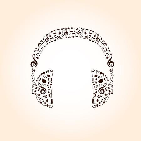 estrofa: m�sica de fondo con los auriculares Vectores