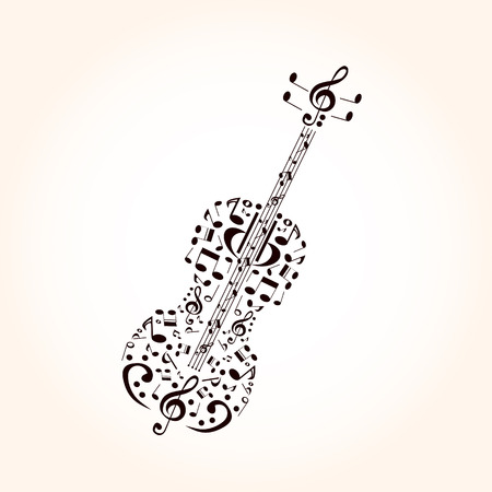 contra bass: Music, contrabass concept made with musical symbols