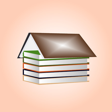 House made of books - vector illustration