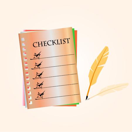 checklist: Checklist Illustration
