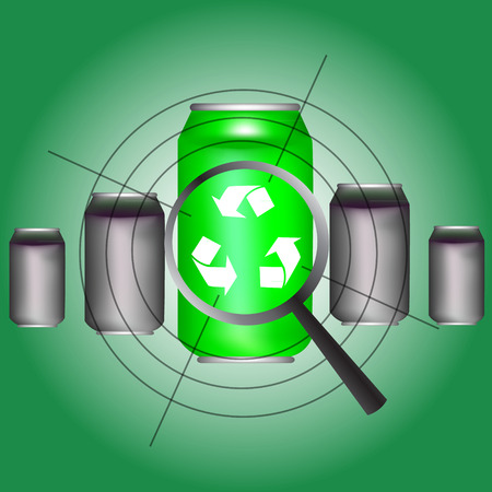 Recycle aluminum cans vector